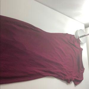 Burgundy below the knee dress